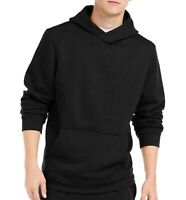 Ideology Mens Sweater Solid Black Size XL Hooded Fleece Knit Pullover $35 298