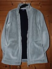 Ladies Silver Grey DASH Zipped Fleece Size 10