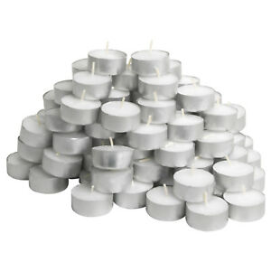 IKEA 100 Tea light candles unscented white 38mm wax tealight 2.5 hours