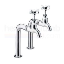 Bristan 1901 Bib Taps Chrome Plated Taps Only, Upstands Not Included and Are in