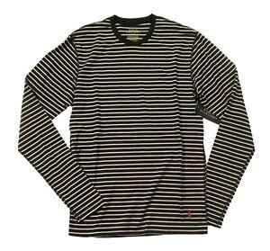 Polo Ralph Lauren Men's Black/White Stripe Crew-Neck Long Sleeve Lounge T-Shirt