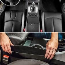 2pc Car Seats Catch Gap Stopper Pocket Sleeves Catcher Organizer Store Box BLK