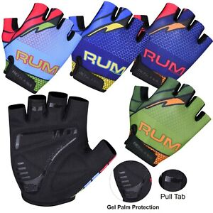 REDRUM Cycling Gloves Half Finger MTB Bicycle Bike Gel Padded BMX Riding Fitness