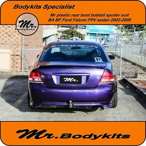 Plastic Made Rear Boot Bobtail Spoiler Wing For BA BF Falcon XR6/8/FPV F6/GT/560