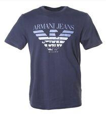 ARMANI JEANS AJ Mens Crew Neck Short Sleeve &  T-Shirt  XL Navy blue