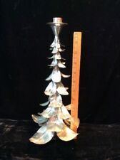 Vintage Aluminum Christmas Tree Topper Candle Holder Silver Antique Mid Century