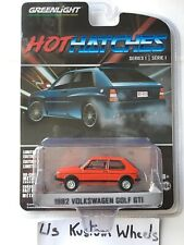 1/64 Greenlight Hot Hatches 1982 Volkswagen Golf GTI Red 🇫🇷