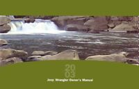 2003 Jeep Wrangler Owners Manual User Guide