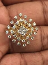 0.89 Carats Round Brilliant Cut Diamonds Engagement Ring In 585 Stamped 14K Gold