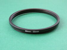 58mm-55mm Stepping Step Down Male-Female Lens Filter Ring Adapter 58mm-55mm