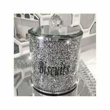 Plata Diamante Bote Tarro de galletas trituradas Lata de almacenamiento de cocina de Plata Trimmings