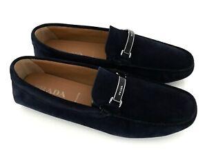 PRADA Men's Shoes Loafers Moccasins Shoes Dark Blue Eu: 45,5 (11,5) New / New