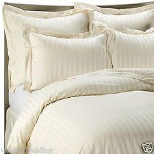 500 Thread CLASSIC STRIPE Continental SQUARE 65cm x 65cm Pillow cases Cream
