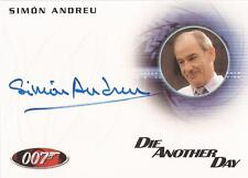"James Bond 50th Anniversary - A181 Simon Andreu ""Dr. Alvarez"" Autograph Card"