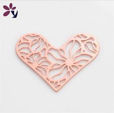 New Floating charm 28mm Clover Rose Gold Heart for glass Living Memory Locket