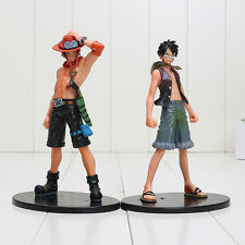 One Piece Monkey D Luffy & Portgas D Ace Brotherhood figure set 6.2in no box