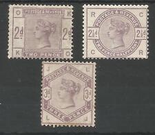 SG189-91  THE 1884 QV 2d, 2,5d & 3d LILAC FRESH MINT CAT £605