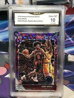 2019-20 NBA Hoops Premium Rookie Coby White Purple Disco Prizm RC BULLS SP GMA10