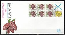 Suriname - 1985 Definitives fruit from booklet - Mi. H-Blatt 11 clean FDC