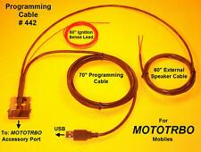 Programming Cable #442 Motorola MOTOTRBO XPR4300 XPR4500 XPR4550  PMKN4010B USB