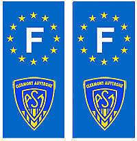 Autocollant ASM Clermont F plaque immatriculation auto