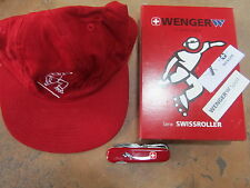 WENGER SWISS ARMY KNIFE SWISSROLLER RED HANDLE WITH RED CAP 15402R