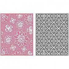 "Quickutz/Lifestyle Crafts EF0035  ""Flower Patch""  2 Embossing Folders  NEW"