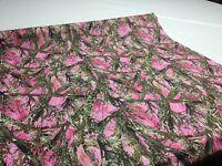 "Ladies Hunting Camo True Timber MC2 Pink Fabric 60"" Poly Taffeta Camouflage Girl"