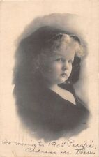 EVERETT WA POSTMARK~CUTE CHILD IN HOODED COVER UP~REAL PHOTO POSTCARD 1912