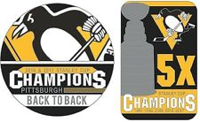 2017 PITTSBURGH PENGUINS STANLEY CUP FINAL 5X CHAMPIONS & BACK TO BACK PIN SET