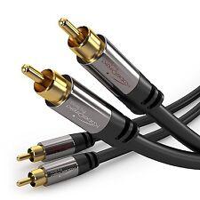 KabelDirekt Audiokabel Cinch Kabel 0,5m mit 2x 2 RCA Stecker vergoldet
