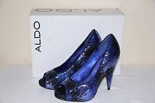NEW Aldo Puckett Women's Platform Shoes HIGH Heels Blue Sparkle Size US 6/EUR 36