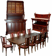 Art Nouveau Mixed Wood Dining set by Hector Guimard, France #1179