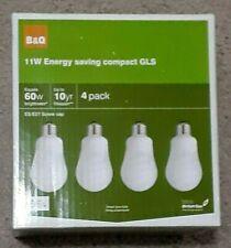 Diall E27 11W Fluorescent GLS Light bulb, Pack of 4