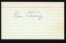 """Ken Strong signed 3""""x5"""" card Football Hall of Fame NY Giants"""
