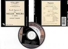 """NELLIE MELBA """"Farewell 1926"""" (CD) Romeo et Juliette,Otello,La Bohème 1992"""