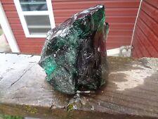 Glass Rock Slag Cullet Clear Emerald 3.10 lb Rocks B44 Landscaping Aquarium