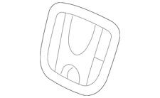 Genuine Honda Emblem H 75700 Tf0 000