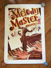 MELODY MASTER BANDS 1-SH POSTER ON LINEN VITAPHONE BIG BAND ERA JAZZ 1936 RARE!