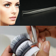 New Eyelash Extension Tweezers Curved Fine Point Stainless Steel Eye Lashes Tool