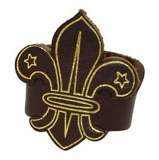 Fleur-de-Lis Leather Woggle for Scout Section