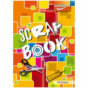 A4 Scrapbook 48 Page 100gsm Paper Colour Page Scrap Book - 24 Sheets