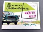 1961 MG Magnette Mark IV Original Vintage Car Sales Brochure Catalog