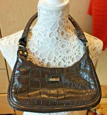 Linea Faux Crocodile skin Brown Shoulder Bag handbag faux leather