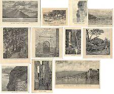 Stampe antiche SERIE 11 VEDUTE LAGO DI COMO di Q. Michetti 1880-90 Antique print
