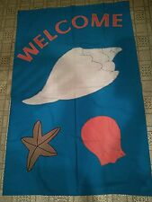 New Decorative Flag Banner - Beach Welcome - Made in Usa - Large