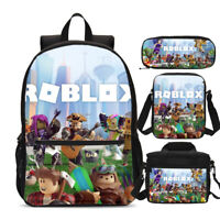 Roblox Print Kids Backpack Sets Lunch Crossbody Bags Pen Case Children Gifts Lot