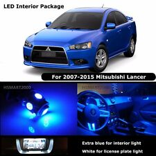 6PCS Blue Interior LED Bulbs For 2008 Mitsubishi Lancer White for License