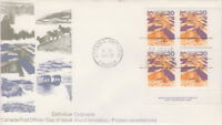 CANADA #596 20¢ LANDSCAPES DEFINITIVES - PRAIRES LR PLATE BLOCK FIRST DAY COVER