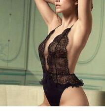 Victoria's Secret Designer Collection Chiffon Silk Lace Teddy Slip $198 Small
